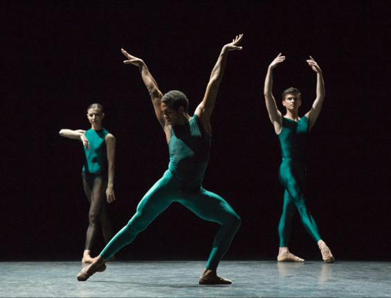 English National ballet in William Forsythe's In the middles, somewhat elevated.