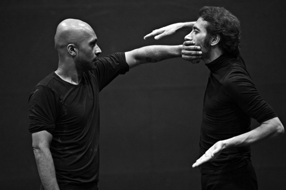 Akram Khan and Israel Galván, rehearsal for Torobaka