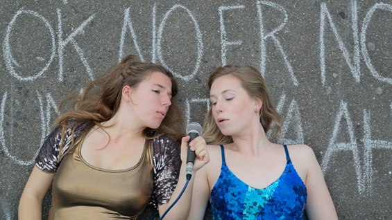 Lorea Burge (left) and Hannah Parsons of Backspace Collective