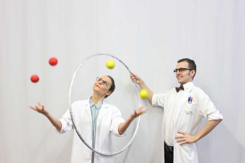 Ben and Fred, The Juggling of Science. Photo: Chris Sly