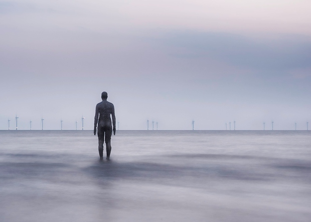 'A Changing View' - 'Another Place', Crosby Beach (license)