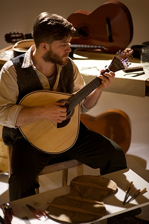 Matt Lackford with Portuguese guitar in Nuno Silva's A Darker Shade of Fado