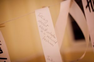 "Audience notes from Vincent Dance Theatre's ""activity room"" . Photo: Ed Thompson"