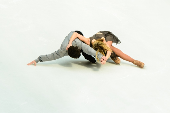 "John and Sinead Kerr in Douglas Webster's Mad World, part of Ice Theatre of New York's ""Athletic Art"" concert series"