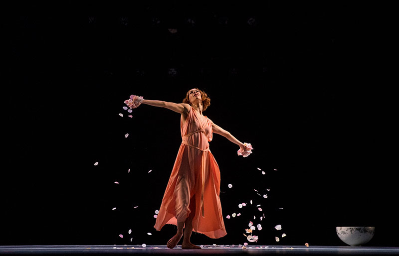 Begoña Cao in Five Brahms Waltz in the Manner of Isadora Duncan, for Viviana Durante Company. Photo: Daivd Schienmann