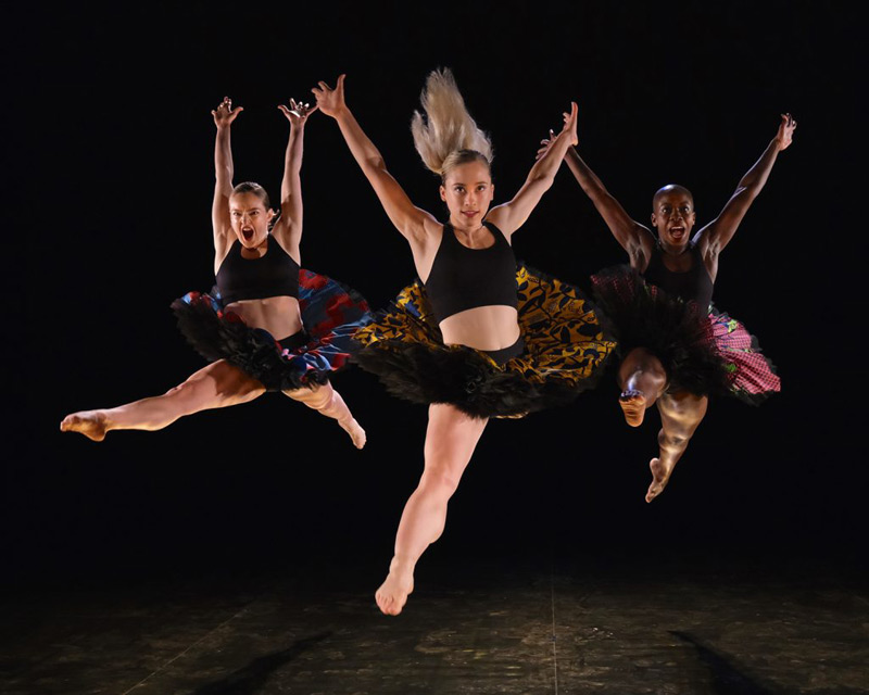 Photo of Rosie Kay's Fantasia, with Harriet Ellis, Carina Howard and Shanelle Clemenson