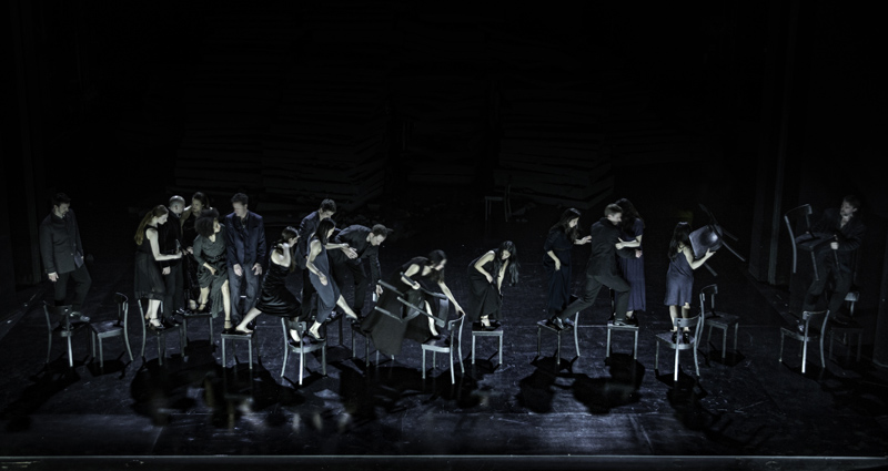 The opening scene of Since She, by Dimitris Papaioannou for Tanztheater Wuppertal Pina Bausch