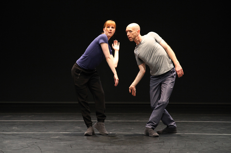 Photo of Jill Johnson and Christopher Roman in William Forsythe's A Quiet Evening of Dance