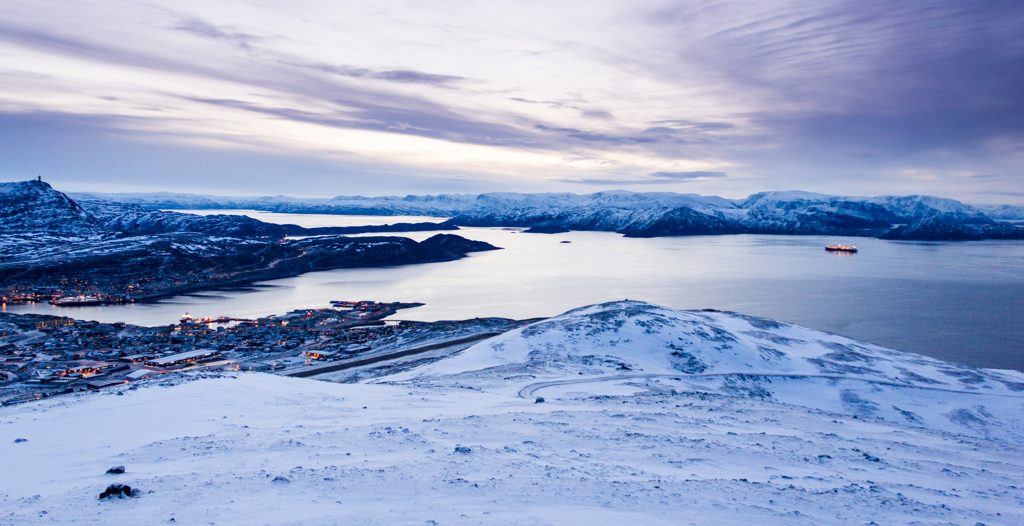 View from the hill behind Hammerfest, Norway