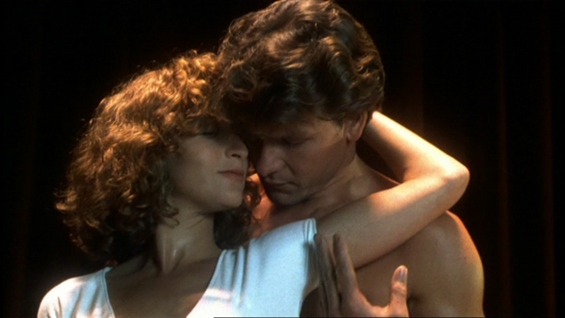 Jennifer Grey and Patrick Swayze in Dirty Dancing.
