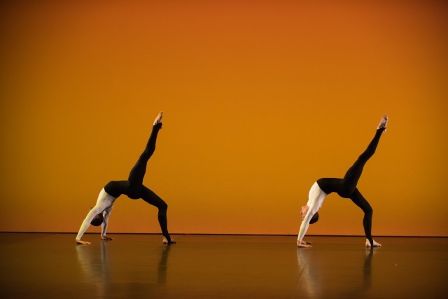 Kieran Page and Melissa Hetherington in Michael Clark's Ogives. Photo: Hugo Glendinning