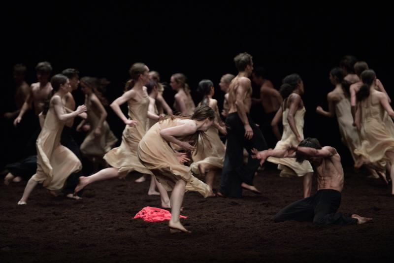 English National Ballet in Pina Bausch's Rite of Spring. Photo: Laurent Liotardo