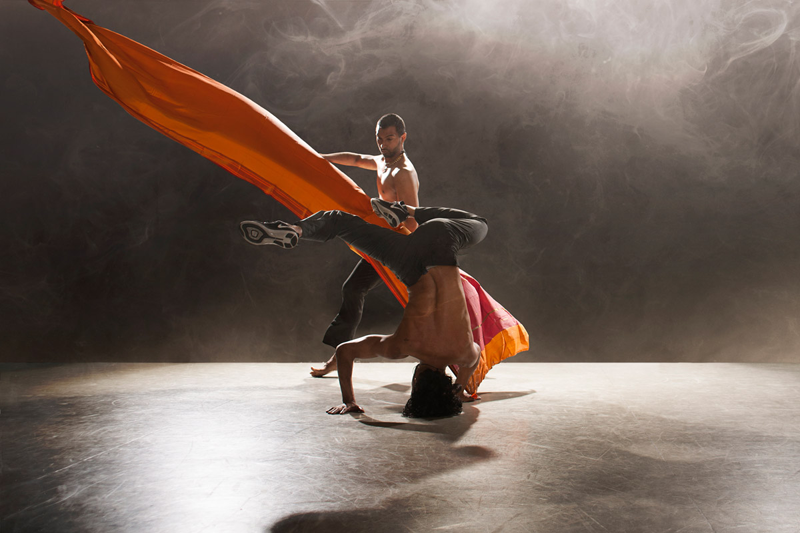 Sooraj Subramaniam and Shailesh Bahoran in Shobana Jeyasingh's Material Men redux. Photo: Chris Nash